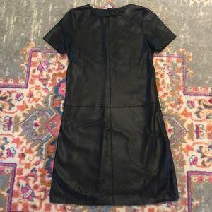 Zara Faux Leather Shift Dress XS Black